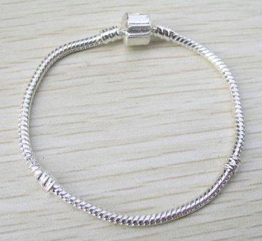 Lot 6 Silver Plated Charm Chain DIY Bracelets