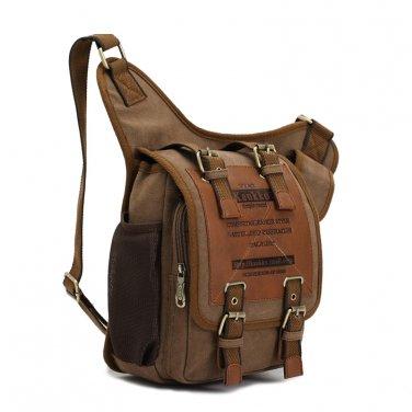 Mens Messenger Tablet School Bag Shoulder Backpack Canvas Pouch Molle