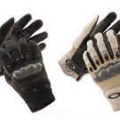 Motorcycle Tactical Sports Gloves Leather Plus Carbon Fiber Airsoft Paintball