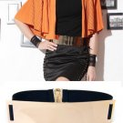 Womens Fashion Gold Metal Mirror Low Waist Cummerbund Belt Band