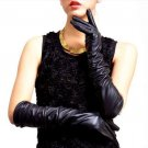 Womens Sexy Long Elbow Length Leather Gloves