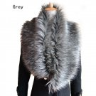 Womens Winter Shawls Faux Fur Scarves Shrug Warmer Wrap