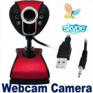 HD Webcam Camera Web Cam with MIC USB 2.0 50.0M 6 LED