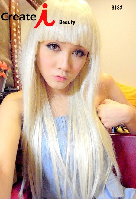 White Blonde Cosplay Wig 32