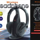 Wireless Hi Fi 5in1 TV Headphones PC Stereo RF Headset Earphones