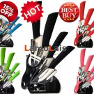 Zirconia Ceramic Knife Kitchen Knives Set 5pcs Peeler Holder