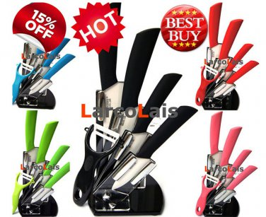 Zirconia Ceramic Knife Kitchen Knives Set 5pcs Peeler Holder