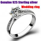 Elegant Wedding Rings Engagement Band 100% Pure 925 Sterling Silver Zirconia