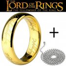 Lot 2 Lord of the Rings 18K Gold Overlay His and Hers Couple Rings Jewellery