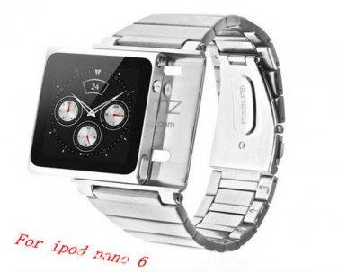 Stainless Steel iPod Nano 6 Watch Kit Strap Band Wristwatch Set