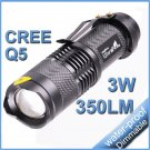 Mini Flashlight Cree Q5 LED 7W 350 Lumens Lantern Light