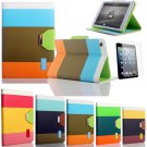 iPad Mini Case + Stylus + Screen Protector Hybrid PU Leather Wallet Flip Pouch Stand Cover Folio