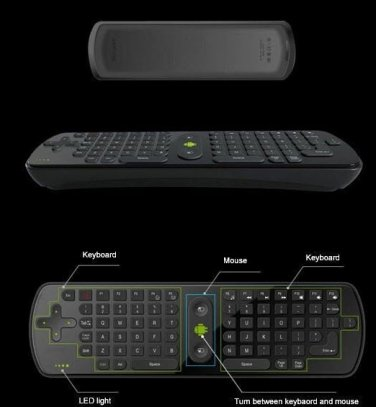 Smart TV Q Box Air Mouse Keyboard Remote Gyroscope Control