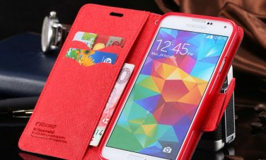 Galaxy S5 Texture Flip Case Cover Wallet Skin