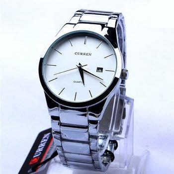 Men's Tungsten Carbide Analog Quartz Watch Wristwatch