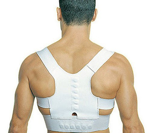 Magnetic Back Posture Support Corrector Belt Band Shoulder Brace