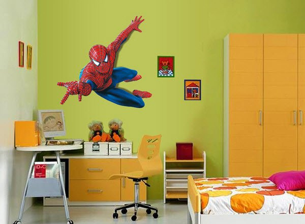 Spiderman 3D Art Wall Decals Removable PVC Wall Stickers Mural