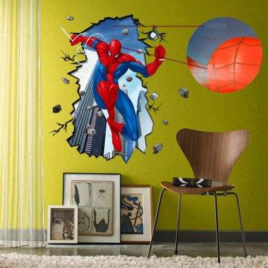 3D Spiderman Vinyl Wall Decal Sticker Decor Art Wall Breaker