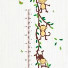 Monkey Measuring Decal Kids Height Chart Removable Vinyl Wall Art Stickers