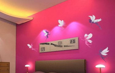 6 Pink Purple Fairy Removable Decal Wall Art Sticker Girls Decor