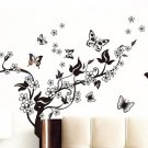 Blossoming Butterfly Decal Wall Sticker Vinyl Art Girls Decor