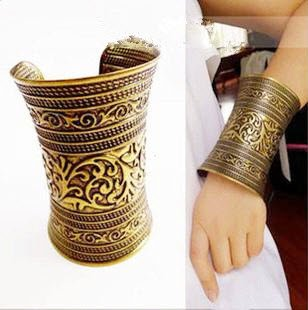 Big Roman Chalice Bangle Bracelet Cuff 18K Gold Plated Cosplay Costume Accessory