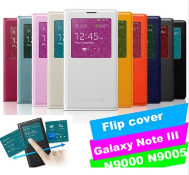 Samsung Galaxy Note 3 N9000 N9005 S View Flip Case Housing