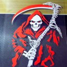 Snowboard Skateboard Decal Car Motorcycle Bike Sticker Reaper Devil Death Scythe