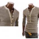 Mens Autumn Long Sleeve V T Shirt