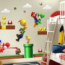 Super Mario Bros Decal Children Decor Kids Wall Sticker Poster
