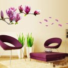 Magnolia PVC Wall Decals Removable Art  Stickers Wall Mural Home Business Room Decor