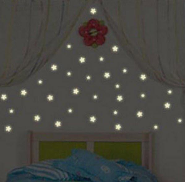 100pcs Glow in the Dark Stars Stickers Wall Decal Childrens Kids Decor