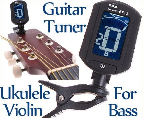 LCD Digital Bass Violin Ukulele Guitar Tuner Chromatic