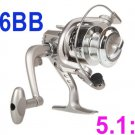 Fishing Spinning Reel 5.1:1 Rod 6BB Ball Bearings