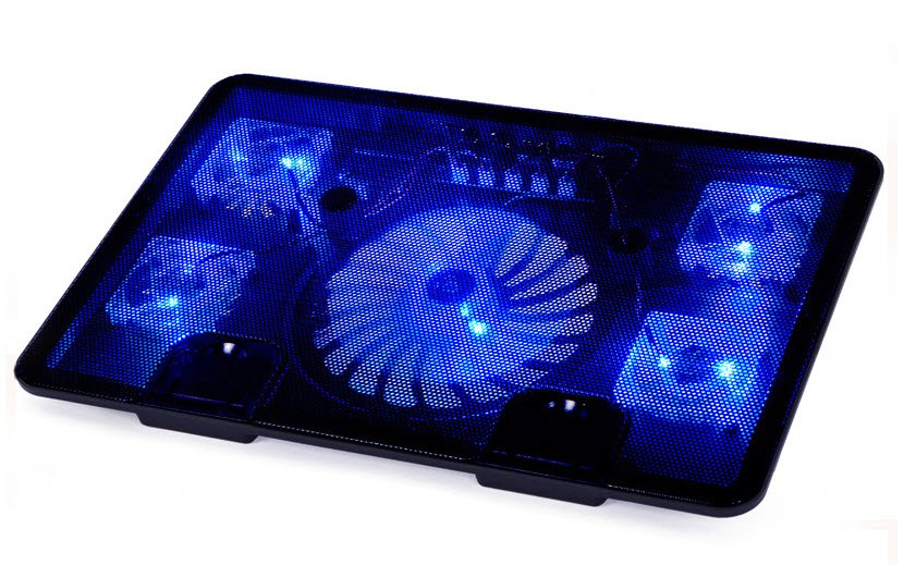 Extreme Laptop Cooling Fan Base Mount Rack 5 Fans!
