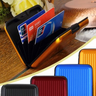 Lot 10 Waterproof Anti RFID Credit Card Wallet Holder Aluminum Metal Case Box