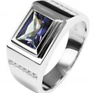 Mens 4.ct Alexandrite Sapphire Ring Genuine 925 Solid Sterling Silver