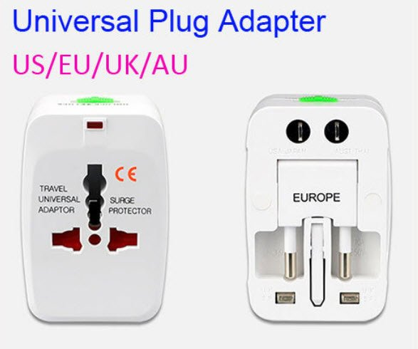Lot 10 Universal Travel Adapter US EU UK Wall Plug Converter