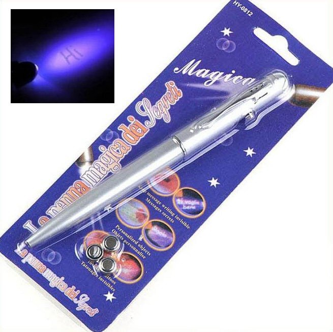 007 lot 5 invisible ink spy pens marker magic pencil uv for Invisible ink tattoo removal price