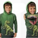 Kids Boys Cotton Clothing 3D T Rex Dinosaur Sweater Hoodies Pullovers