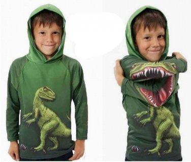 Kids Boys Cotton Clothing 3D T Rex Dinosaur Sweater Hoodies Pullovers