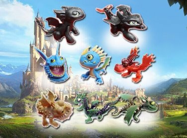 8pc Set 2014 How To Train Your Dragon 2 Toys Action Figures