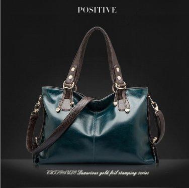 2015 Womens Ladies Purse Hand Bag Genuine Leather Tote