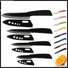 4pc Ceramic Knife Set Kitchen Knives Zirconia Black Blades with Sheath