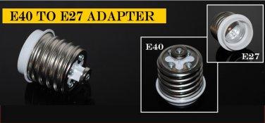2pcs Convert E27 Light Bulb to E40 Socket Adapter Converter