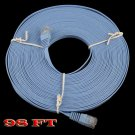 98FT Ethernet Cat 6 Flat Cable 30M Internet wire LAN Cord