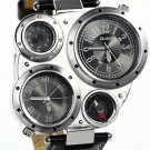 Aviator Bomber Mens Wristwatch Military Analog Quartz Watch