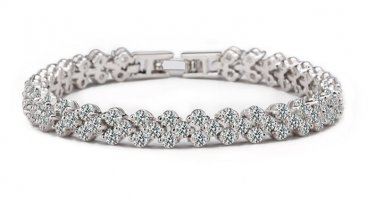 Triple Platinum Plated Bracelet