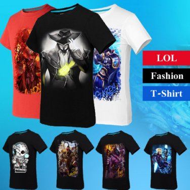 League of Legends LOL T Shirts Sin Lee Ezreal Jax Twisted Fate Yasuo
