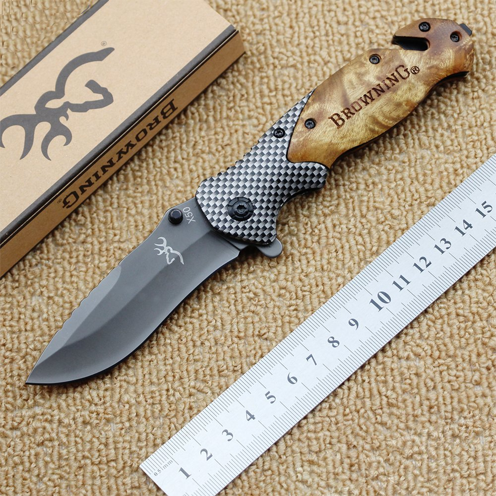 Tactical Browning 3 in 1 Folding Pocket Knife Hunting Knives